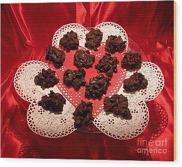 Cherry Pecan Chocolates Wood Print by Judyann Matthews