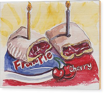 Wood Print featuring the painting Cherry Pie Indulgence by Julie Maas