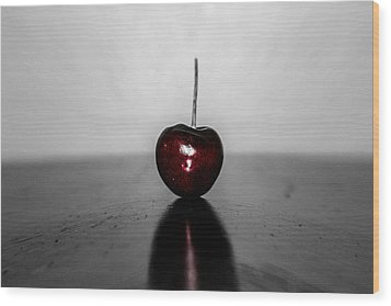 Cherry Red Wood Print by Steven  Taylor