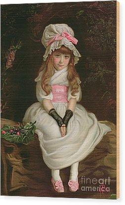Cherry Ripe Wood Print by Sir John Everett Millais