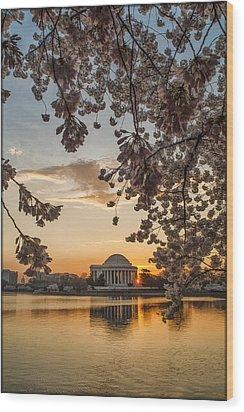 Cherry Sunrise Burst Wood Print