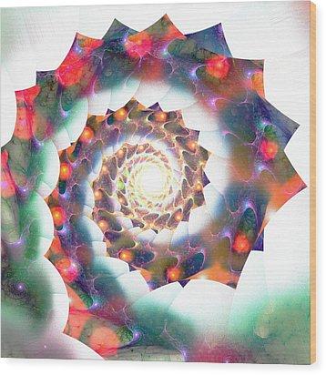 Cherry Swirl Wood Print by Anastasiya Malakhova