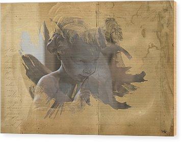 Cherub Wood Print by Evie Carrier
