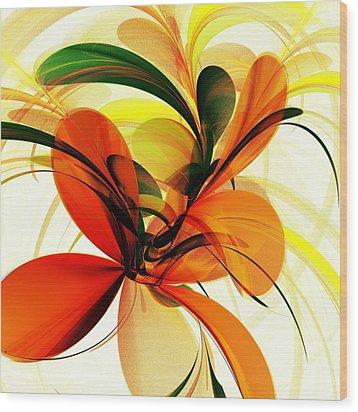 Chervona Ruta Wood Print by Anastasiya Malakhova
