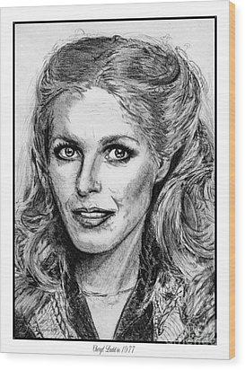Cheryl Ladd In 1977 Wood Print by J McCombie