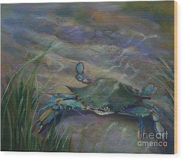 Chesapeake Bay Blue Crab Wood Print