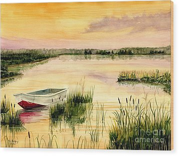 Chesapeake Marsh Wood Print