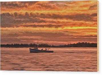 Chesapeake Watermen Wood Print