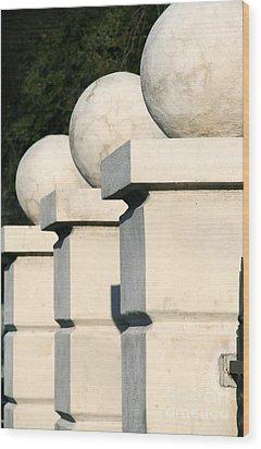 Chess Pieces Wood Print by Jennifer Apffel