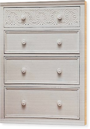 Chest Of Drawers Wood Print by Tom Gowanlock