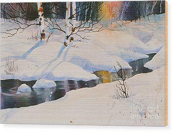 Chester Creek Shadows Wood Print by Teresa Ascone