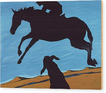 Chestertown Trials, 1999 Wood Print by Marjorie Weiss