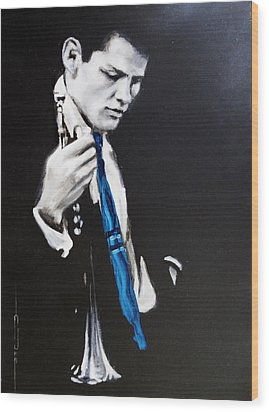 Chet Baker - Almost Blue Wood Print