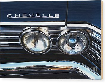 Chevelle Headlight Wood Print by Jerry Fornarotto