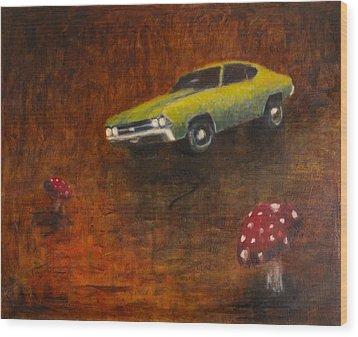 Chevelle Wood Print by Jeff Levitch