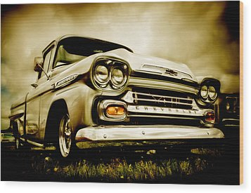 Chevrolet Apache Pickup Wood Print by motography aka Phil Clark