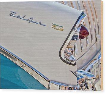 Chevrolet Bel-air Taillight Wood Print by Jill Reger