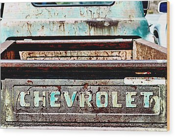 Chevrolet Wood Print by Bob Wall