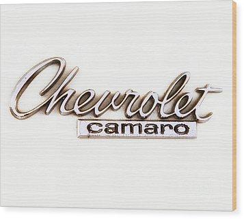 Chevrolet Camaro Emblem Wood Print by Jerry Fornarotto