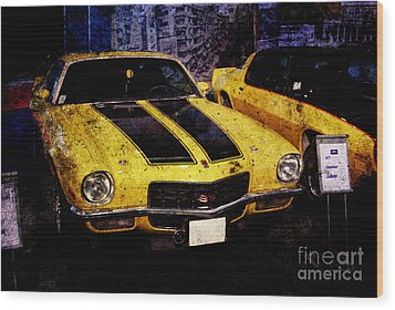 Wood Print featuring the photograph Chevrolet Camaro by Mohamed Elkhamisy