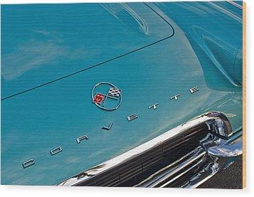 Chevrolet Corvette Hood Emblem 2 Wood Print by Jill Reger