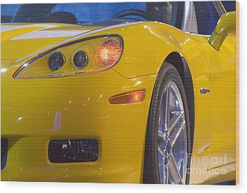 Wood Print featuring the photograph Chevrolet Corvette by Jim West