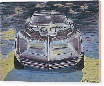 Chevrolet Corvette Wood Print by Rimzil Galimzyanov