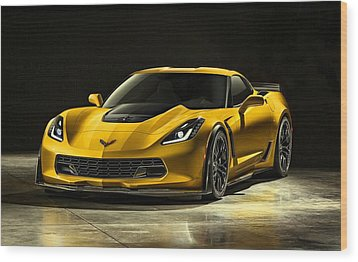 Chevrolet Corvette Z06  Wood Print by Movie Poster Prints