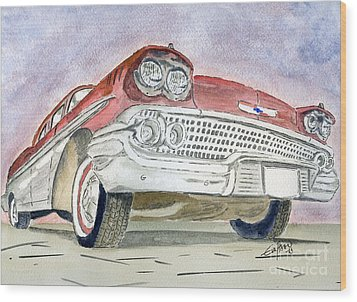 Chevrolet II Wood Print