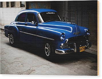 Chevrolet In Havana Wood Print by Dan  Grover