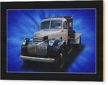 Wood Print featuring the photograph Chevrolet Maple Leaf Truck by Keith Hawley