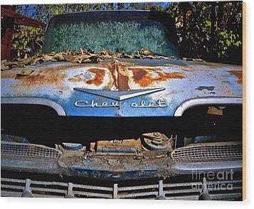 Chevrolet Picking Wood Print by Gwyn Newcombe