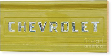 Chevrolet Pickup Tailgate Wood Print by Tim Gainey