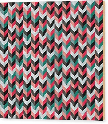 Chevron Wood Print by Mike Taylor