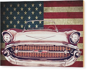 Chevy Bel Air 57 Wood Print by Diego Abelenda
