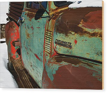 Chevy Wood Print by Gia Marie Houck