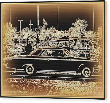 Chevy Glow Wood Print by Bobbee Rickard