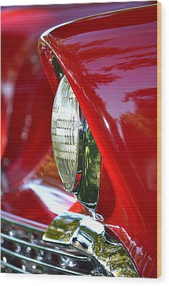 Chevy Headlight Wood Print