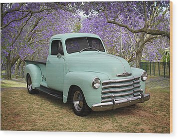 Wood Print featuring the photograph Chevy Pickup by Keith Hawley