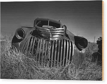 Chevy Pickup Wood Print by Peter Tellone