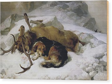 Chevy Wood Print by Sir Edwin Landseer