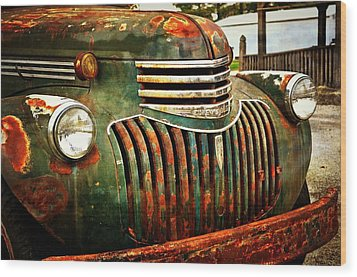 Chevy Truck Wood Print by Marty Koch