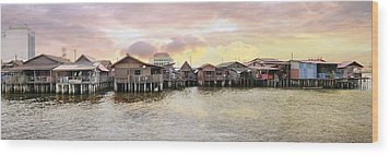 Chew Jetty Heritage Site In Penang Wood Print by JPLDesigns