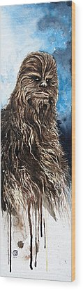Chewbacca Wood Print