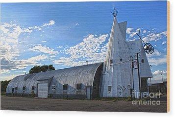 Cheyenne Wyoming Teepee - 01 Wood Print by Gregory Dyer