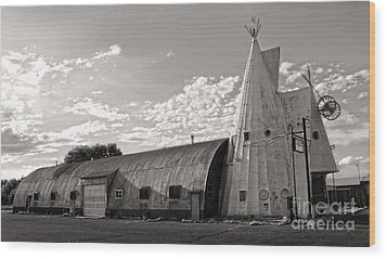 Cheyenne Wyoming Teepee - 02 Wood Print by Gregory Dyer
