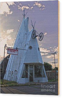 Cheyenne Wyoming Teepee - 03 Wood Print by Gregory Dyer