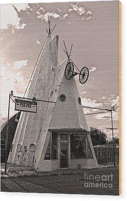 Cheyenne Wyoming Teepee - 04 Wood Print by Gregory Dyer