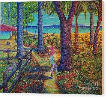 Chez Les Amazons Wood Print by Viktor Lazarev