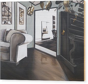 Chez Moi Wood Print by Erin Brinkman